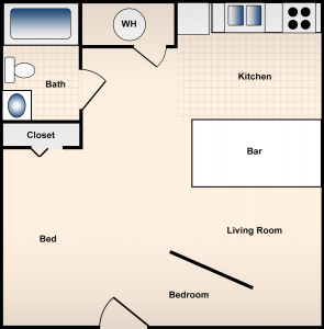 Studio / 1 Bath / 363 ft² / Availability: Not Available / Deposit: $550 / Rent: $550
